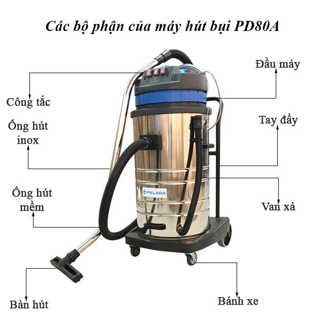 Cấu tạo máy hút bụi Palada PD80A