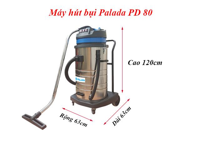 Kích thước máy hút bụi Palada PD80