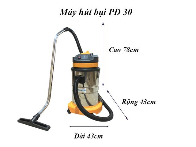 Kích thước máy hút bụi PD 30