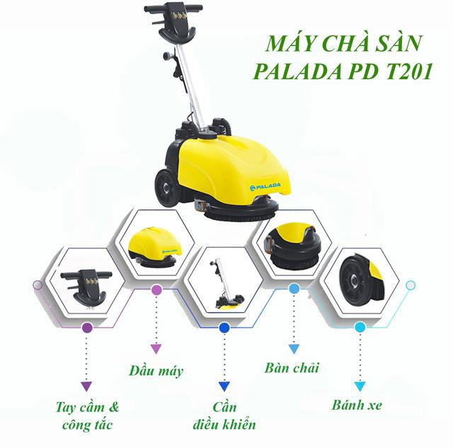 Cấu tạo máy rửa xe liên hợp mini Palada PDT201