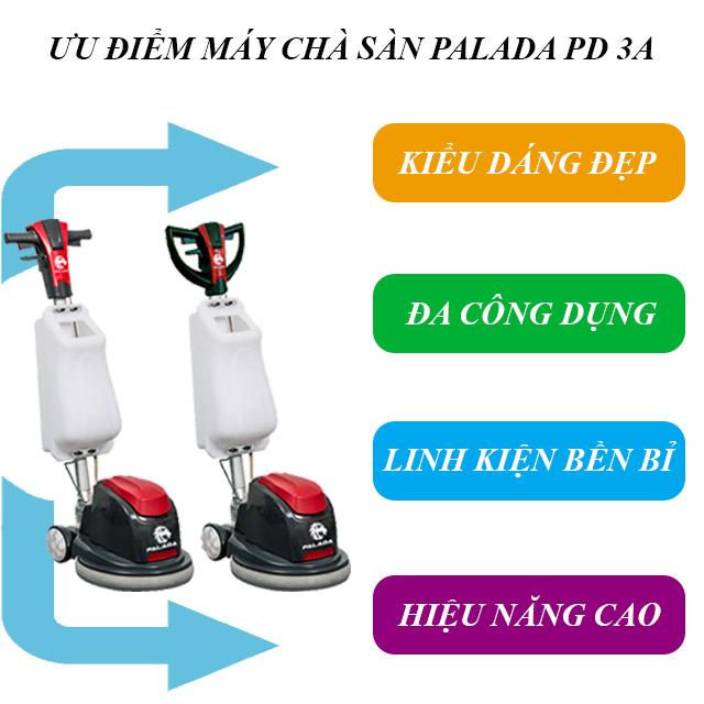 Một số ưu điểm nổi bật của máy chà sàn đơn PD3A