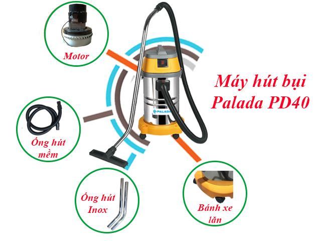 Cấu tạo máy hút bụi Palada PD40