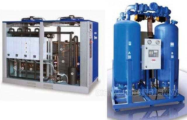 Nên lựa chọn máy sấy khí kiểu làm lạnh hay kiểu hấp thụ