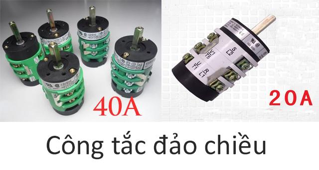 Công tắc đảo chiều có 2 loại gồm 20A và 40A