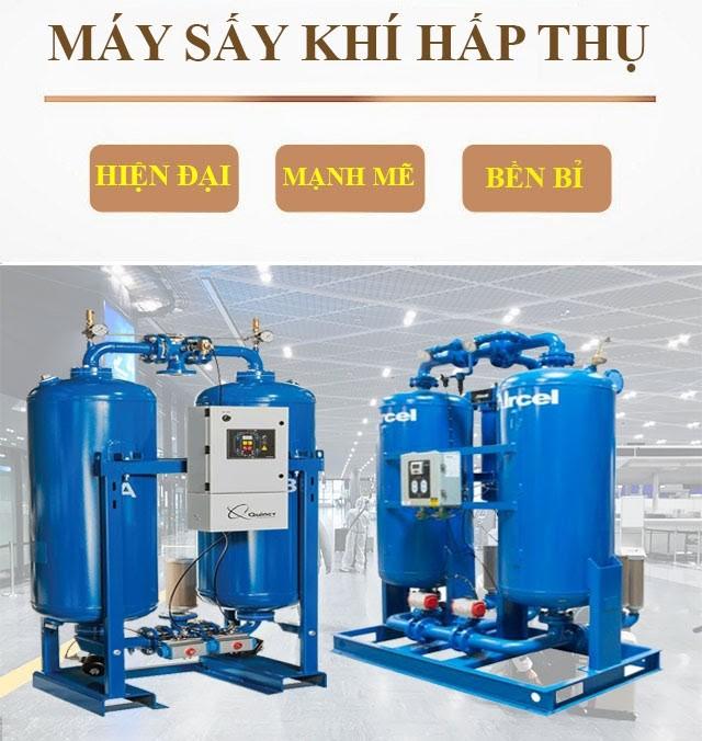 Máy sấy khí hấp thụ được sử dụng rộng rãi trong lĩnh vực công nghiệp