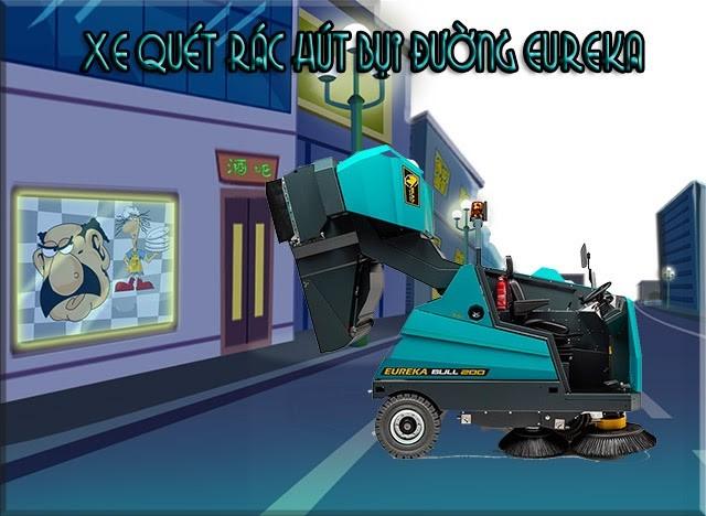 Xe quét rác hút bụi đường công nghiệp Eureka