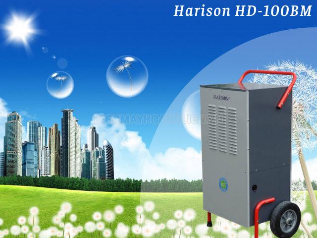 Máy hút ẩm Harison HD-100BM di chuyển tiện lợi