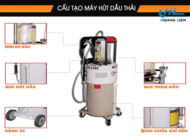 cấu tạo máy hút dầu thải