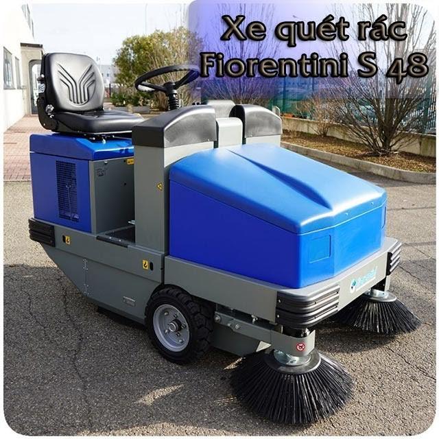 Xe quét rác ngồi lái Fiorentini S 48 có khả năng làm sạch nhanh chóng