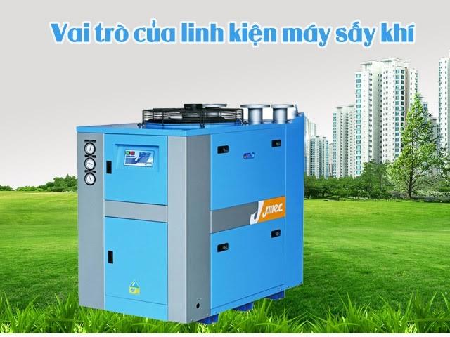 Linh kiện máy sấy khí có vai trò quan trọng với thiết bị sấy khí