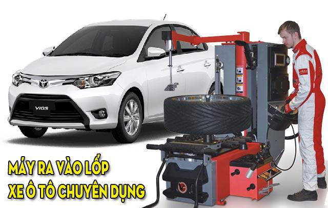 Vì sao nên sử dụng máy ra vào lốp xe ô tô?
