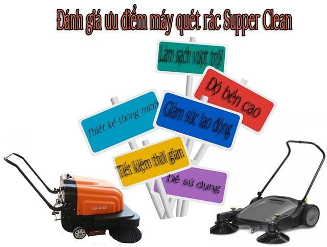 Ưu điểm nổi bật máy quét rác công nghiệp Supper Clean