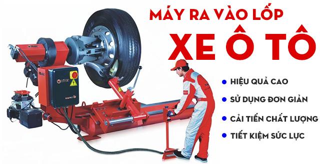 Máy ra vào lốp ô tô được sử dụng phổ biến tại nhiều gara