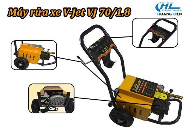 Các bộ phận trên máy xịt rửa Vjet VJ 70/1.8
