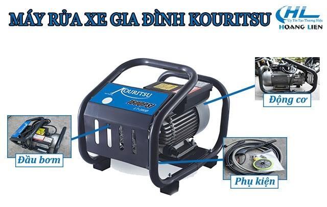 Cấu tạo cơ bản máy xịt rửa gia đình thương hiệu Kouritsu