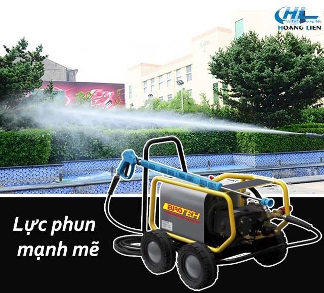Lực phun rửa siêu lớn của máy xịt rửa xe Eurotech
