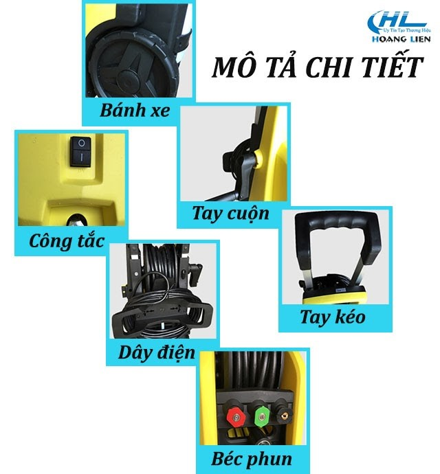 Mô tả chi tiết máy xịt rửa xe V-Jet 120