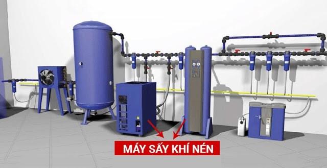 Máy sấy khí nén giúp sấy khô khí và tạo không khí khô