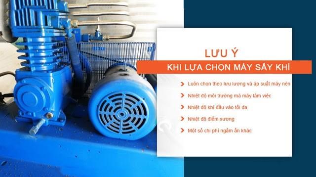 Những điều cần lưu ý khi mua thiết bị sấy khí giải nhiệt bằng nước