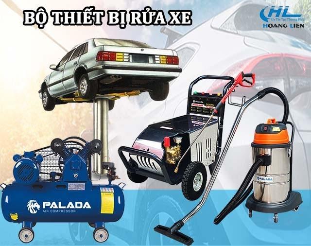 Trọn bộ các thiết bị rửa xe chuyên nghiệp